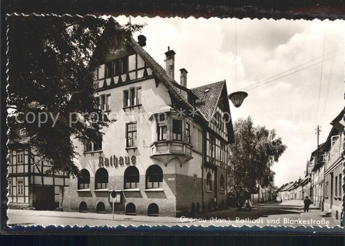 Gronau Leine Rathaus Blankestrasse Kat. Gronau (Leine)