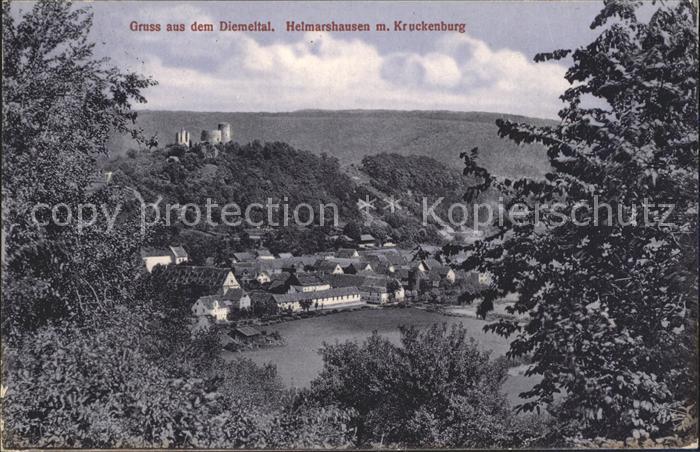 Helmarshausen Helmarshausen mit Kruckenburg Kat. Bad Karlshafen