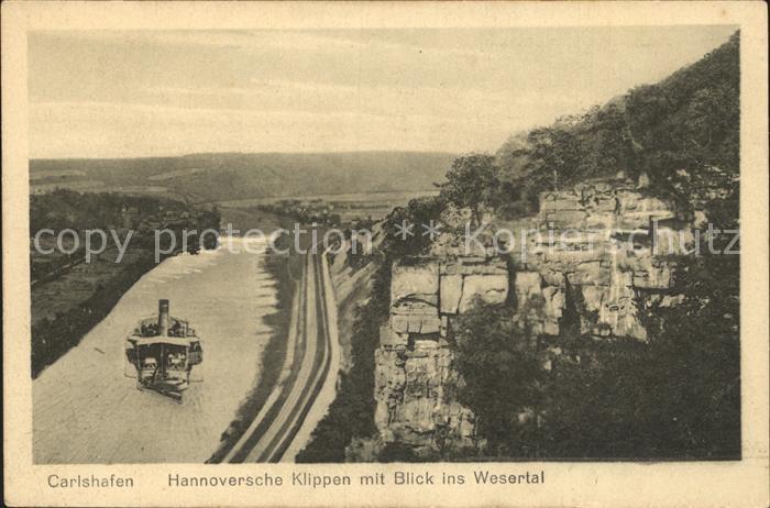 Bad Karlshafen Hannoversche Klippen Wesertal  Kat. Bad Karlshafen
