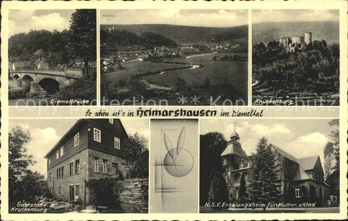 Helmarshausen Diemelbruecke Kruckenburg Gaststaette Kruckenburg Kat. Bad Karlshafen