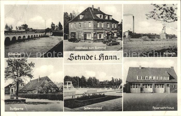 Sehnde Gasthaus zum Bahnhof Kaliwerk Feuerwehrhaus Kat. Sehnde