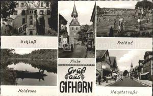 Gifhorn Freibad Schloss Heidesee Haupstrasse Kat. Gifhorn