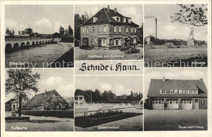 Sehnde Kaliwerk Feuerwehrhaus Schleuse Kat. Sehnde