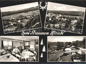 61680460 Laubach_Hann_M?nden Gasthaus Zum Braunen Hirsch Gasthaus Zum Braunen Hirsch Alte Ansichtskarte Postkarte