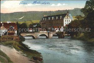 Hannoversch Muenden Werrabruecke Kat. Hann. Muenden