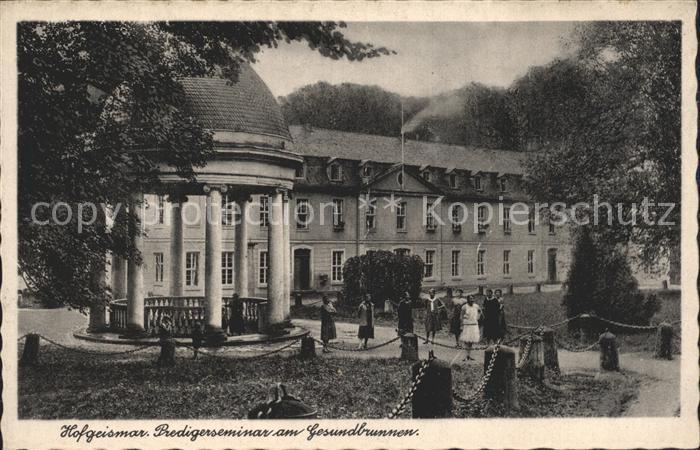 Hofgeismar Predigerseminar am Gesundbrunnen Kat. Hofgeismar