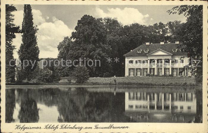 Hofgeismar Schloss Schoenburg am Gesundbrunnen Kat. Hofgeismar