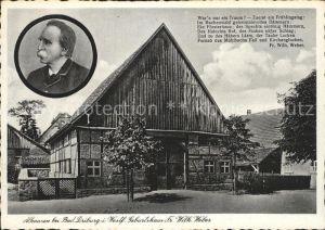 Alhausen Westfalen Geburtshaus des Dichters Weber Kat. Bad Driburg