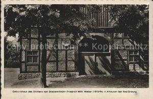 Alhausen Westfalen Geburtshaus des Dichters Friedrich Weber Kat. Bad Driburg
