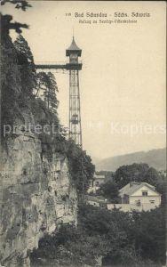Bad Schandau Aufzug Sendigs Villenkolonie Kat. Bad Schandau