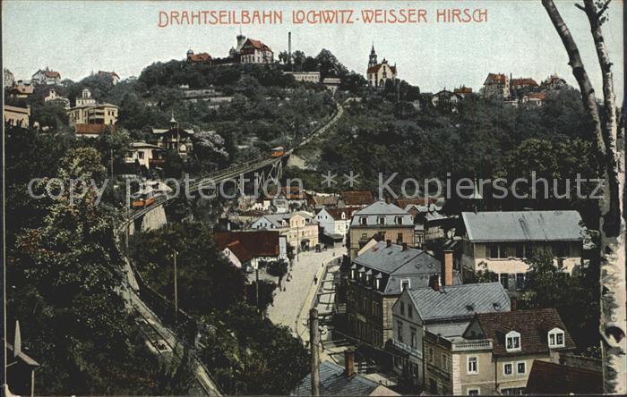 Loschwitz Drahtseilbahn Weisser Hirsch  Kat. Dresden