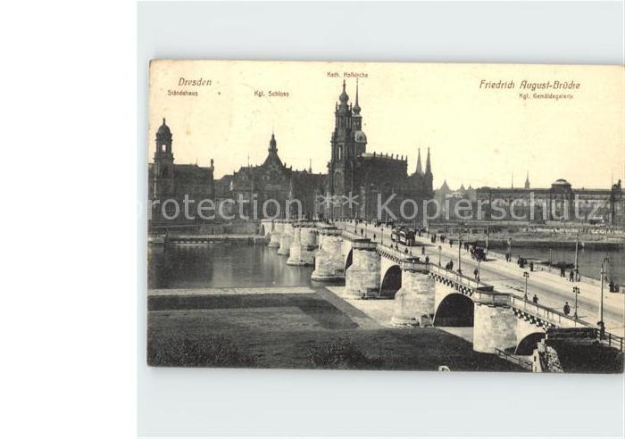 Dresden Katholische Kirche Koenigliches Scloss Kat. Dresden Elbe