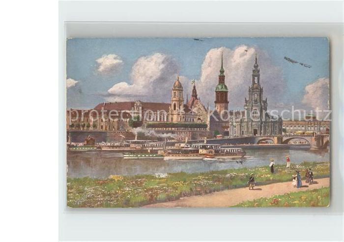 Dresden Staendehaus Schloss Katholische Kirche Kat. Dresden Elbe