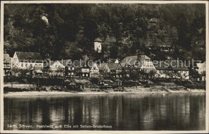 Postelwitz Sieben  Bruederhaus Kat. Bad Schandau