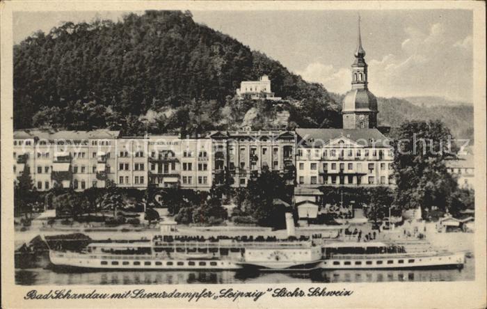 Schandau Bad Luxusdampfer Leipzig Kat. Bad Schandau