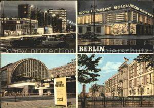 Berlin Karl Marx Allee Restaurant Moskau Bahnhof Alexanderplatz Staatsratsgebaeude Kat. Berlin