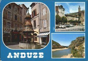 Anduze Fontaine Pagode La tour de l Horloge Le Gardon Kat. Anduze