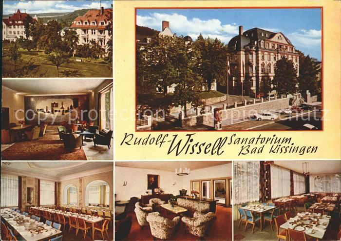Bad Kissingen Rudolf Wissell Sanatorium Aufenthaltsraum Speisesaal Kat. Bad Kissingen