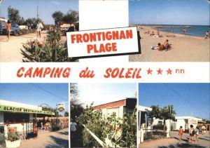 Frontignan de Comminges Camping du Solel Strand Eiscafe Bungalows Kat. Frontignan de Comminges