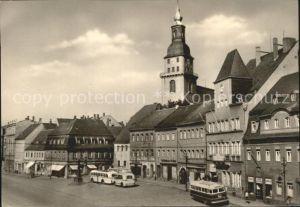 Frankenberg Sachsen Platz der Einheit Kirche Kat. Frankenberg Sachsen