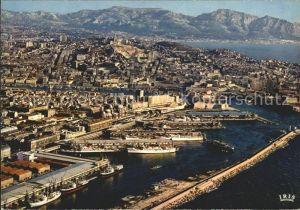 Marseille Bassin de la Joliette Notre Dame de la Garde Corniche vue aerienne Kat. Marseille