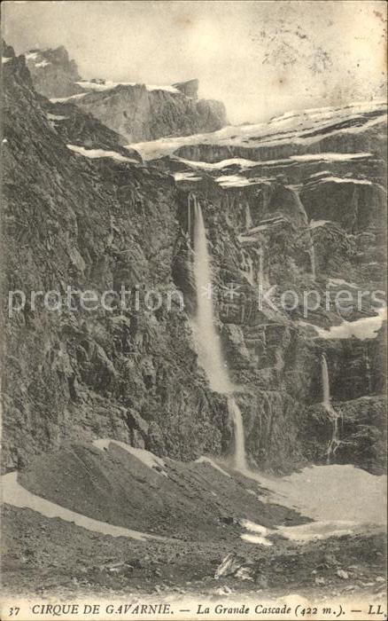 Ak Gavarnie La Grande Cascade Wasserfall Nr 6487127