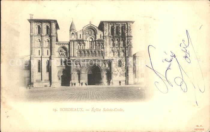 Bordeaux Eglise Sainte Croix Kat. Bordeaux