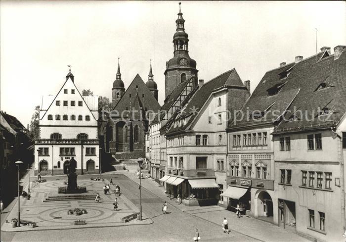 Eisleben Marktplatz Rathaus St. Andreas Kirche Kat. Eisleben