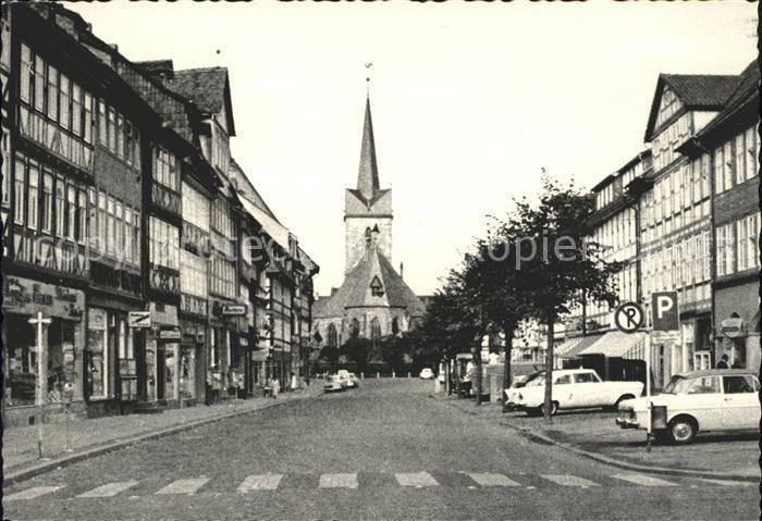 Duderstadt Marktstrasse St Servatius Kirche 1000jaehrige Stadt Kat. Duderstadt