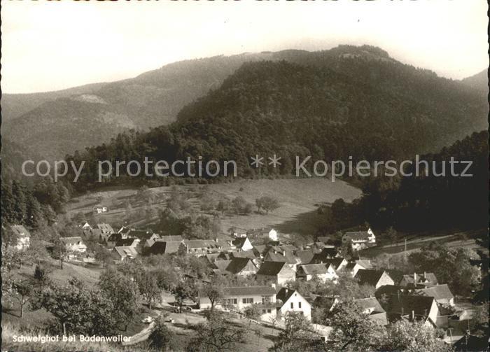 Schweighof Badenweiler Gesamtansicht Schwarzwald Kat. Badenweiler