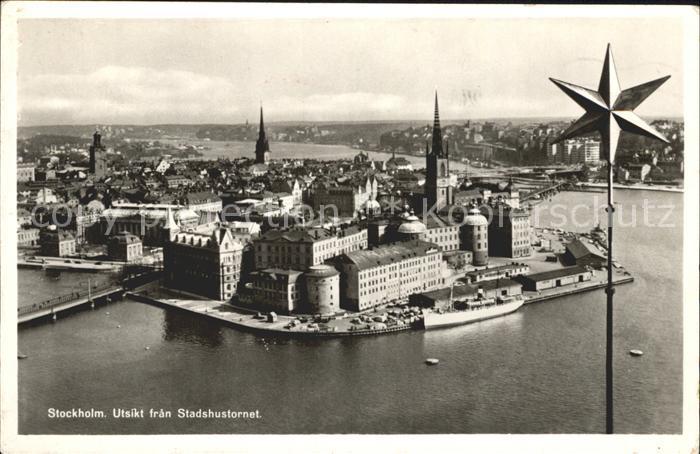 Stockholm Utsikt fran Stadshudfornet Kat. Stockholm