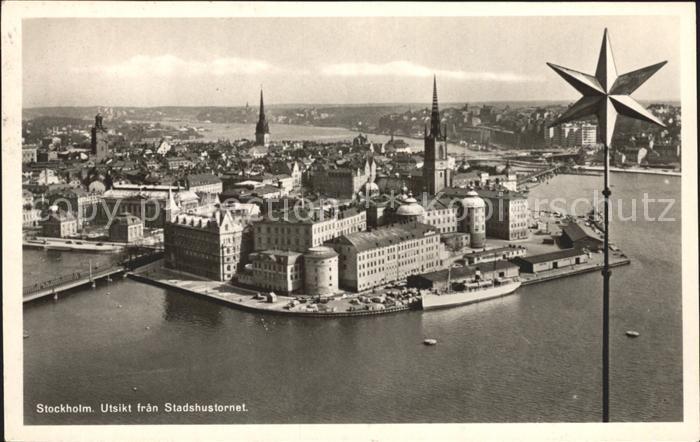 Stockholm Utsikt fran Stadshusfornet Kat. Stockholm