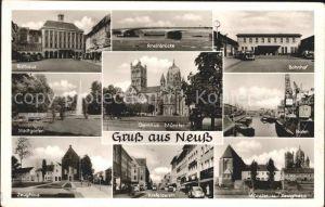 Neuss Rheinbruecke Rathaus Stadtgarten / Neuss /Rhein-Kreis Neuss LKR