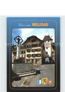 Willisau Stadtbrunnen und oberes Tor Kat. Willisau