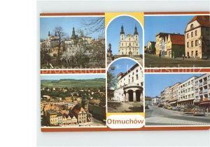 Otmuchow Kirche Schloss Strassenpartie Ortsansichten Kat. Ottmachau Oberschlesien