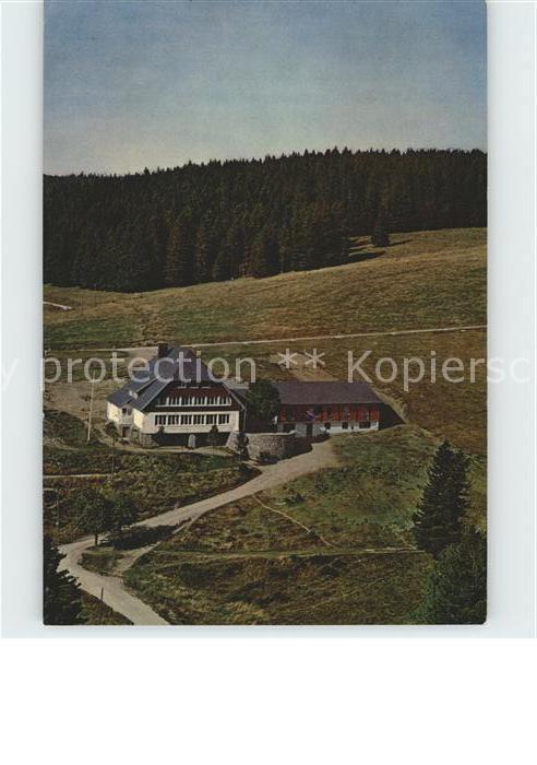 Todtnauberg Jugendherberge Fleinerhaus Fliegeraufnahme Kat. Todtnau