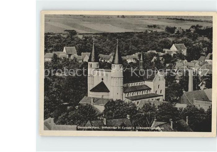 Gernrode Harz Stiftskirche St Cyriaki Kat. Gernrode Harz