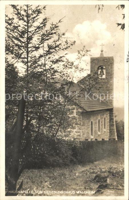 Oberdachstetten Hauskapelle Genesungsheim Waldheim Bahnpost Kat. Oberdachstetten