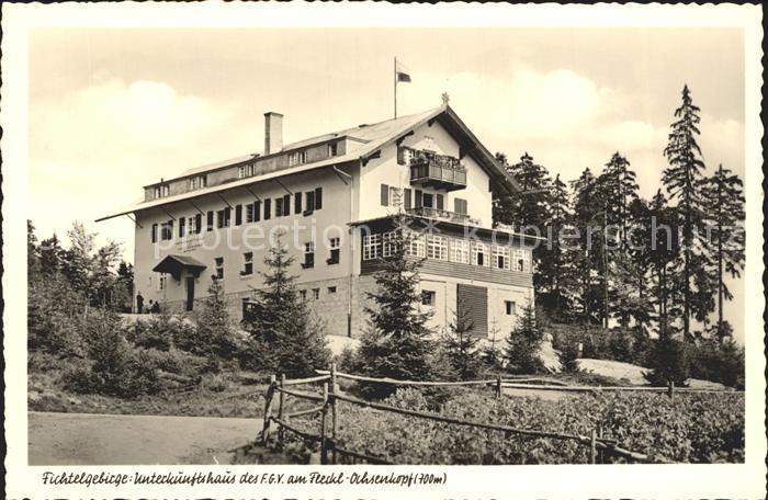Fleckl Fichtelgebirge Unterkunftshaus Ochsenkopf Kat. Warmensteinach