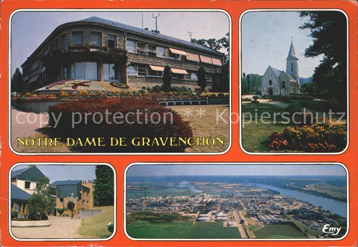 Notre Dame de Gravenchon Fliegeraufnahme Eglise  Kat. Notre Dame de Gravenchon