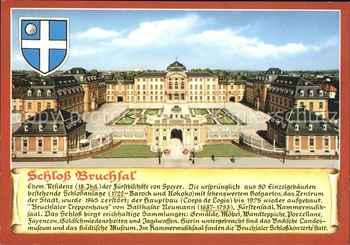 Bruchsal Schloss Bruchsal Kat. Bruchsal