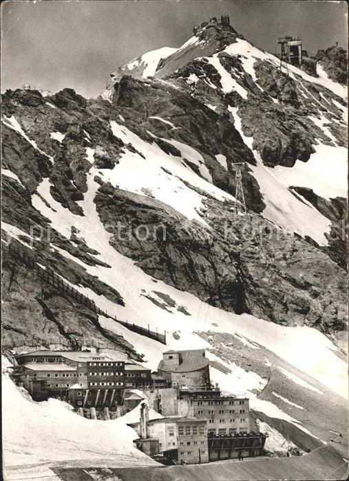 Zugspitze Zugspitzbahn Hotel Schneefernerhaus Gipfelstation Muenchner Haus Kat. Garmisch Partenkirchen