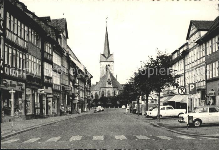 Duderstadt Marktgasse mit St. Servatius Kirche Kat. Duderstadt