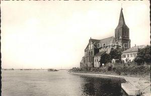 Emmerich Rhein Rheinpartie mit Martinikirche Kat. Emmerich am Rhein