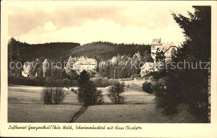 Georgenthal Gotha Schwimmbachtal Haus Charlotte Luftkurort Thueringer Wald Kat. Georgenthal