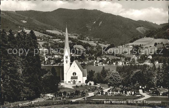 Bad Wiessee Kirche Friedhof Blick auf Tegernsee Kat. Bad Wiessee