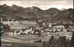 Bad Kohlgrub Panorama Blick auf Ammergauer Alpen Stahlbad Moorbad Kat. Bad Kohlgrub