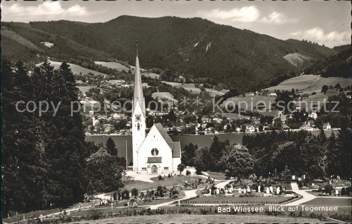 Bad Wiessee Kirche Blick auf Tegernsee Kat. Bad Wiessee