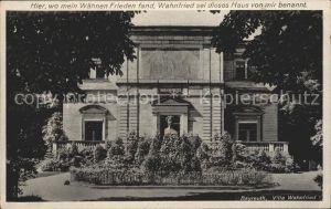 Bayreuth Villa Wahnfried Denkmal Bueste Kat. Bayreuth