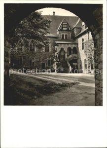 Burg Wupper Schloss Schlosshof mit Blick zur Kapelle Kat. Solingen